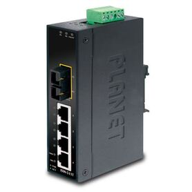 Planet Industrial 5 Port (4x 100Mbps RJ45 1x 100Mbps MM FX(SC) 2km Switch ( 40~75C)