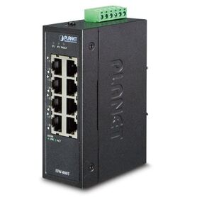 Planet Industrial 8 Port (8x100Mbps RJ45) Compact Ethernet Switch ( 40~75 degrees C) unmanaged