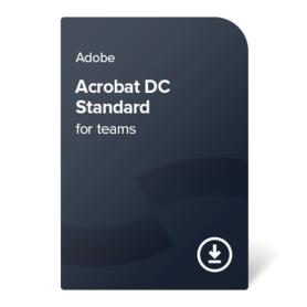 Adobe Acrobat DC Standard for teams PC ENG 1 godina digital certificate